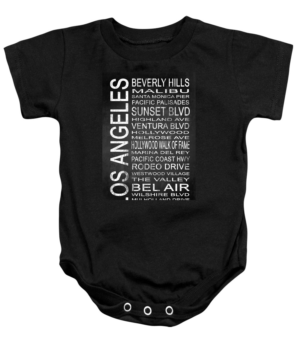 Art Baby Onesie featuring the digital art Subway Los Angeles 2 by Melissa Smith