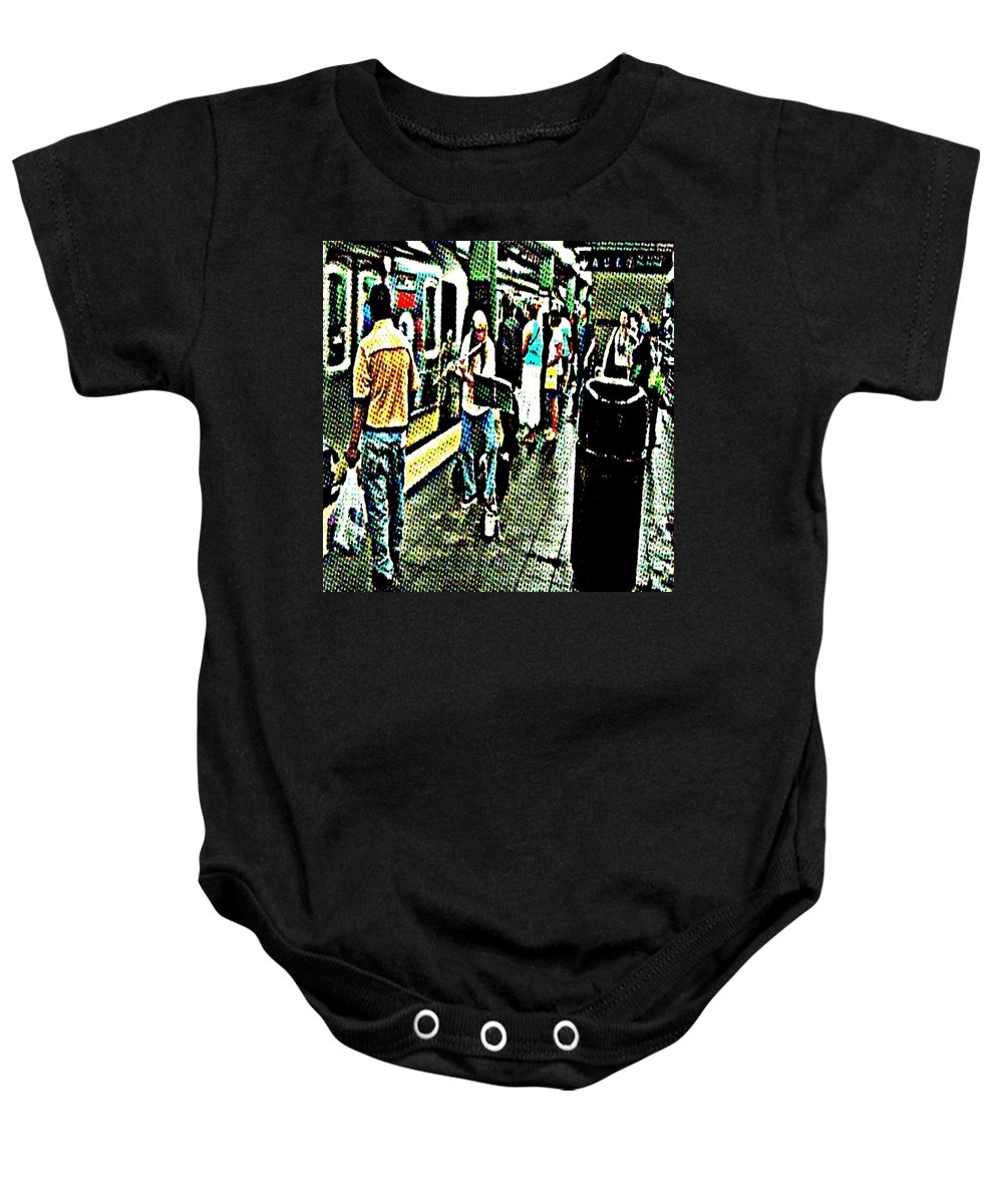 Subway Baby Onesie featuring the photograph Subway Seranade by Paulo Guimaraes