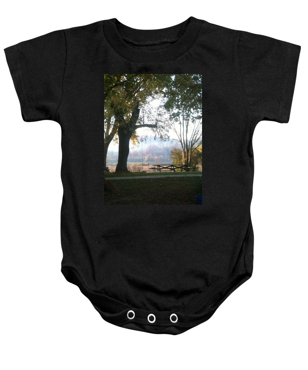 Landscape Baby Onesie featuring the photograph Summer Is Over by Coleen Harty