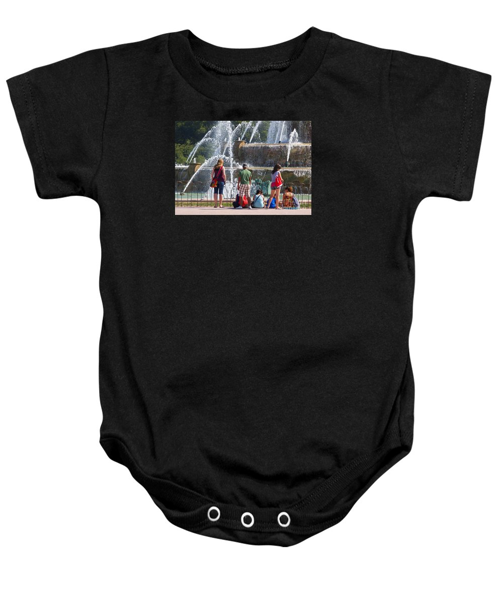 Chicago Baby Onesie featuring the photograph Summer Resting Place by Ann Horn