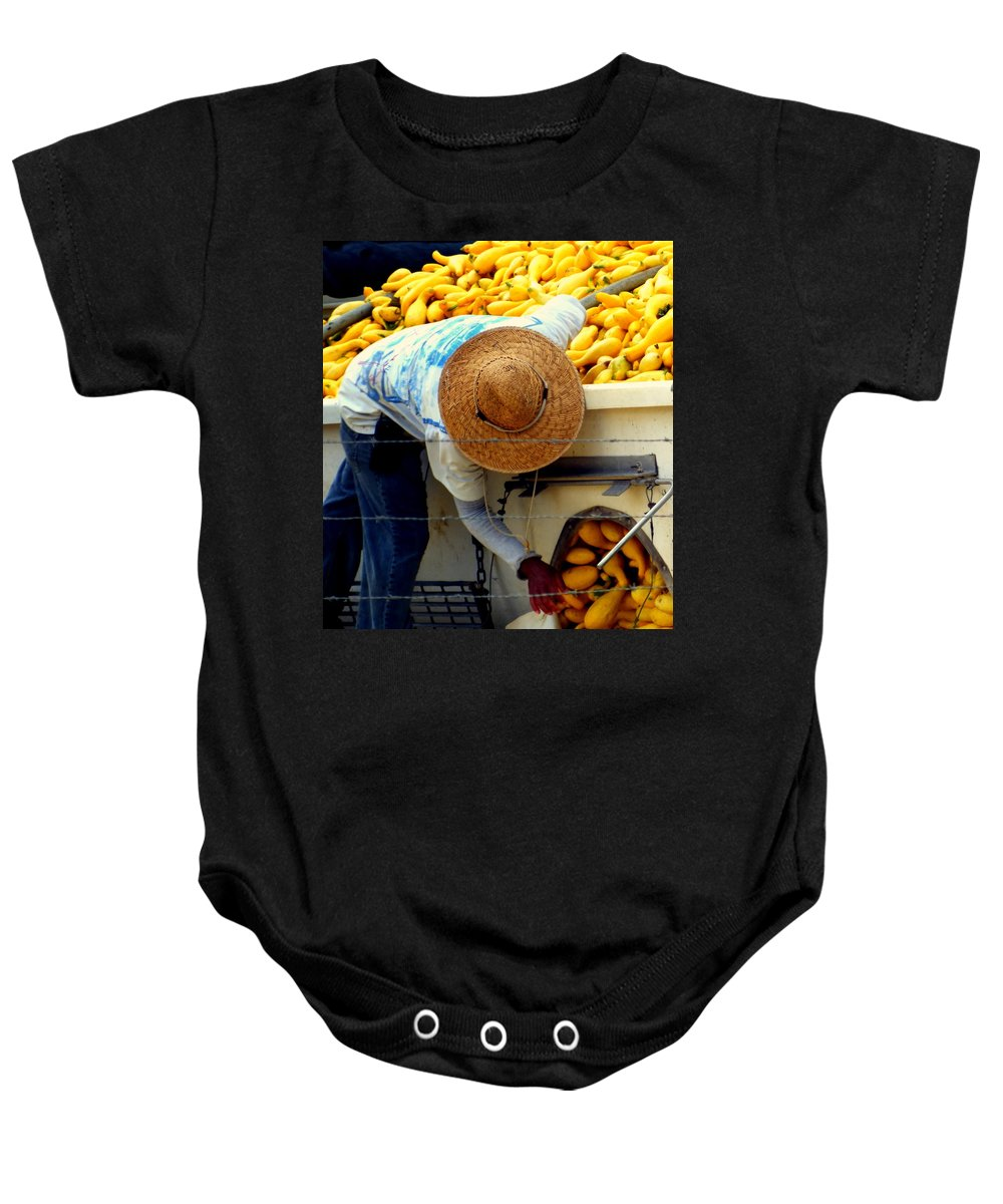 Squash Baby Onesie featuring the photograph Summer Squash by Karen Wiles