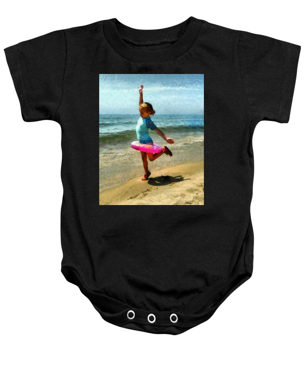 Beach Baby Onesie featuring the photograph Summertime Girl by Michelle Calkins