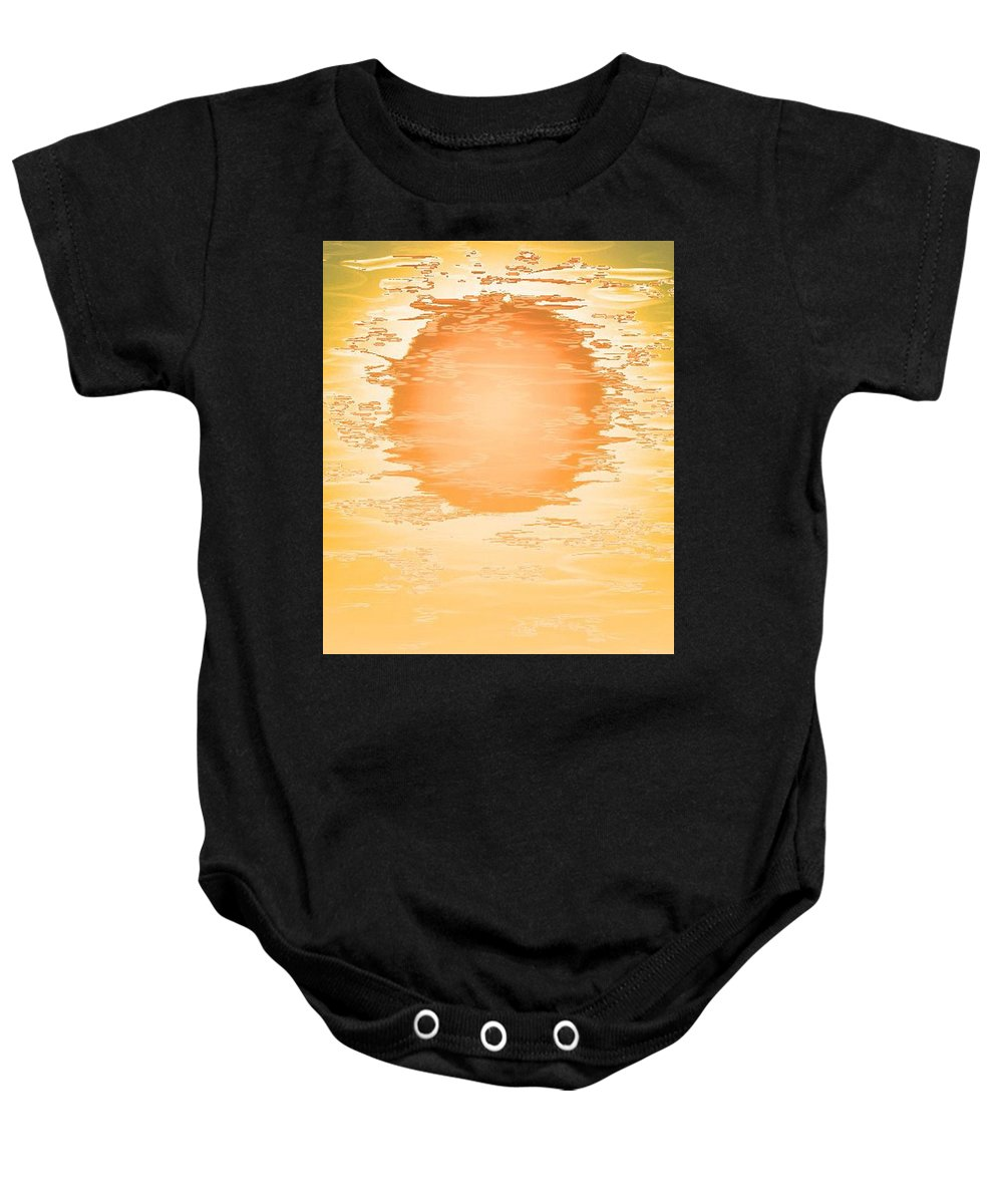 Digital Painting Baby Onesie featuring the digital art Sun by Lillian Hibiscus