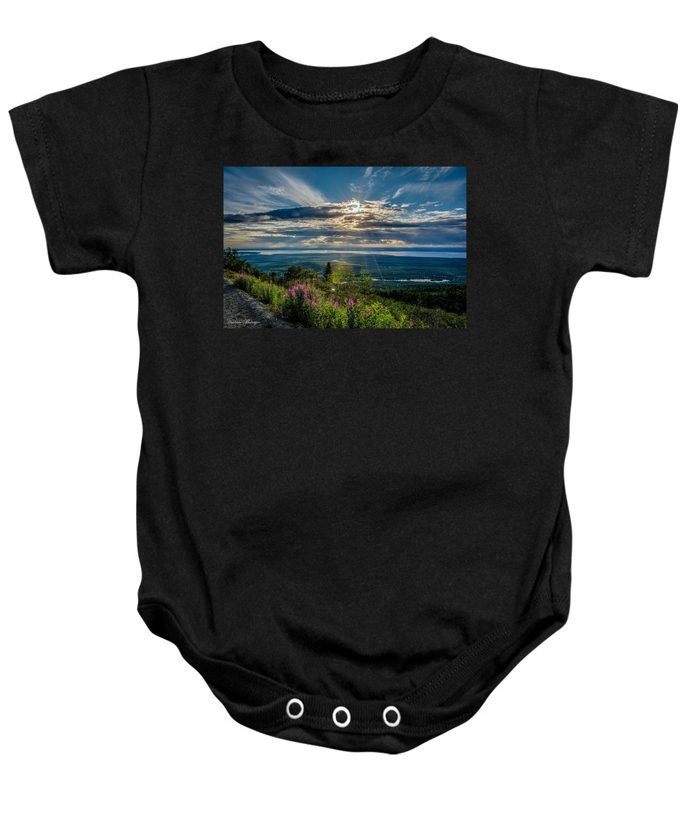 Sun Baby Onesie featuring the photograph Sun Rays by Andrew Matwijec