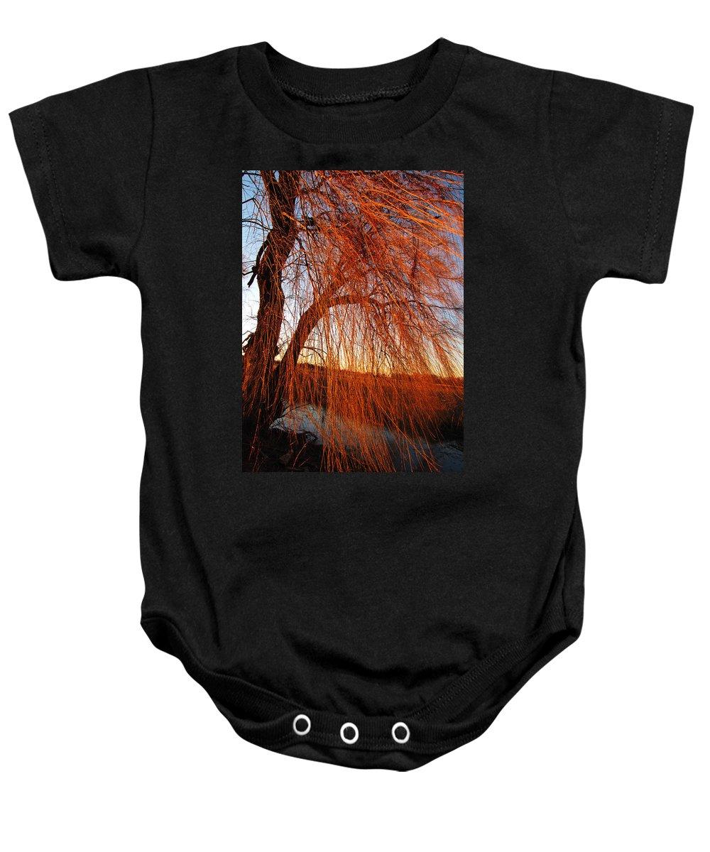 Ron Tackett Baby Onesie featuring the photograph Sun Shower by Ron Tackett