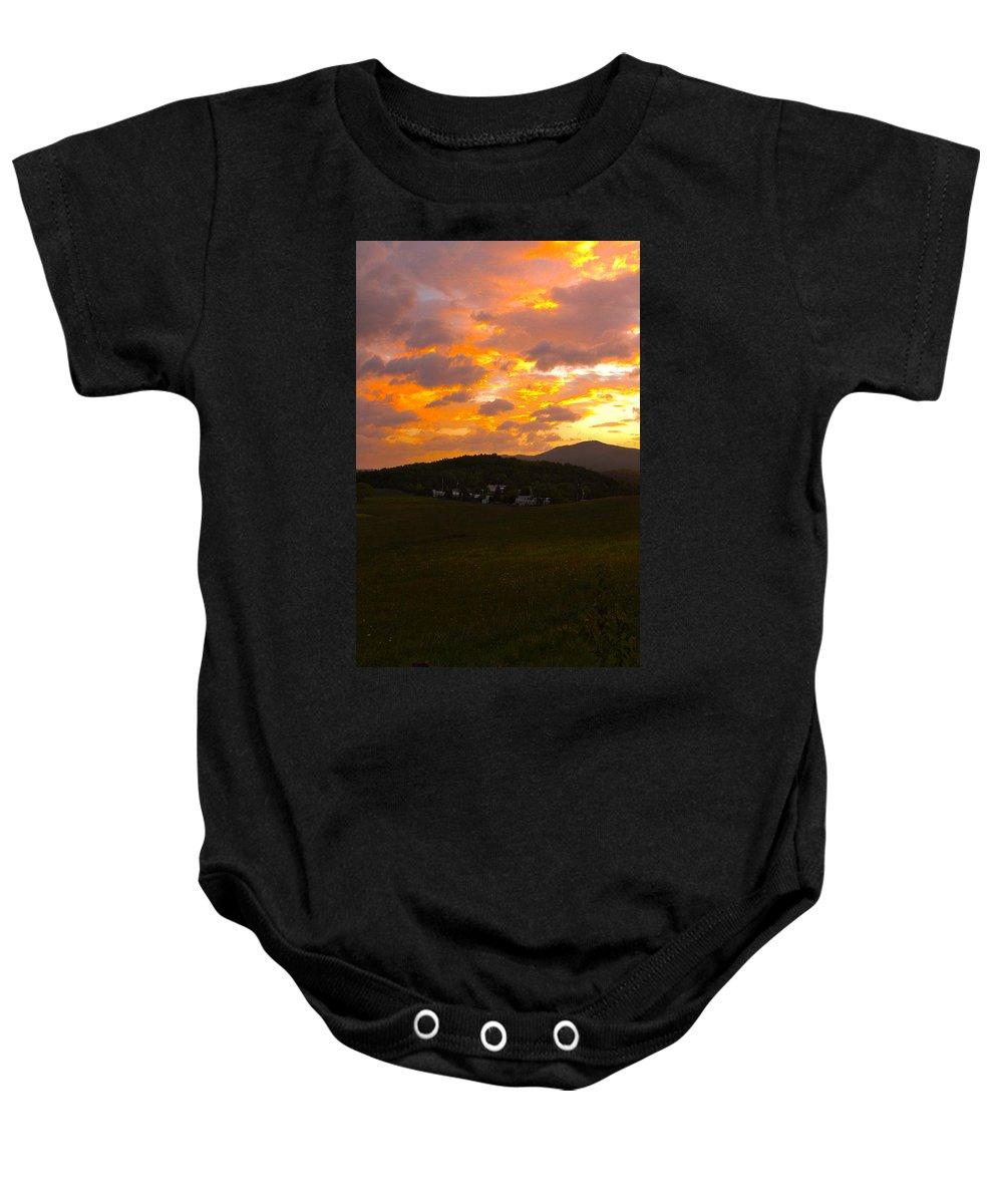 Smokies Baby Onesie featuring the photograph Sunrise In The Smokies by Jeff Kurtz