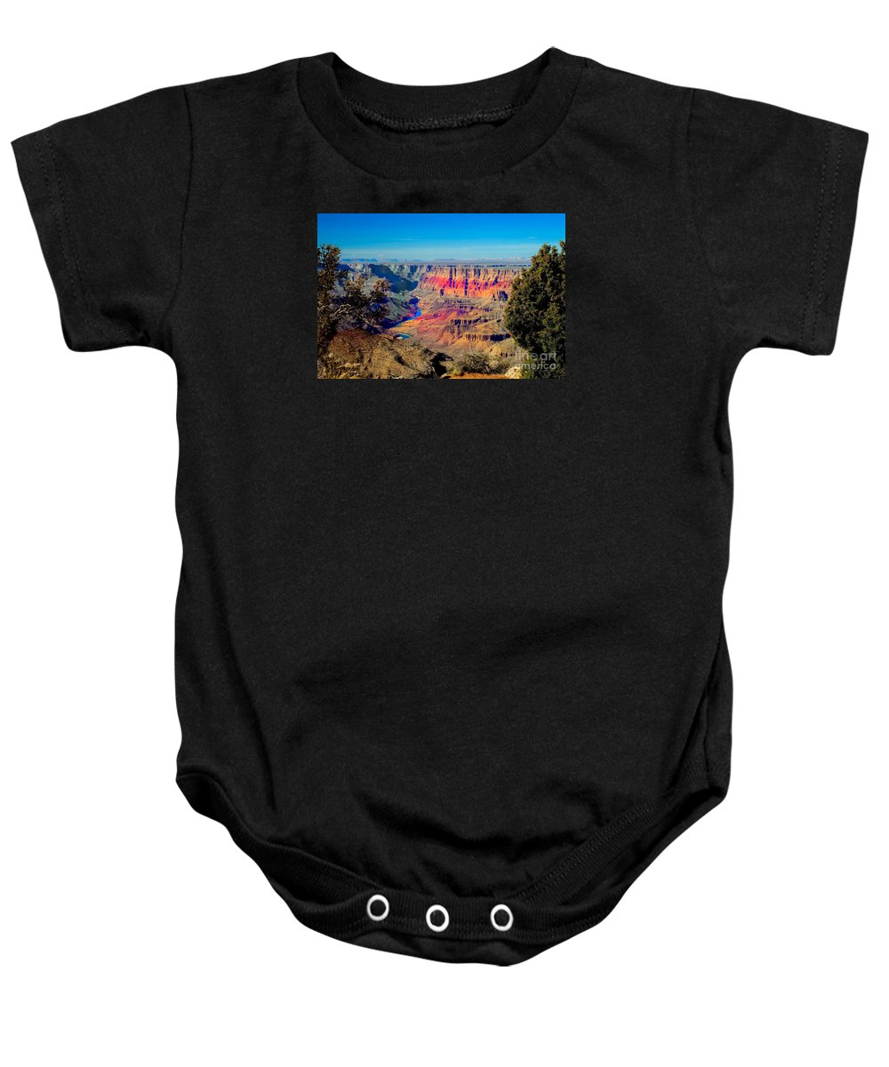 Grand Canyon Baby Onesie featuring the photograph Sunset At South Rim by Robert Bales