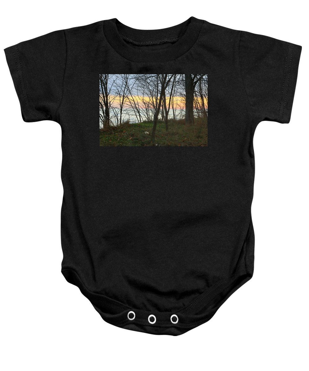 Centre Island Baby Onesie featuring the photograph Sunset At The Island by Munir Alawi