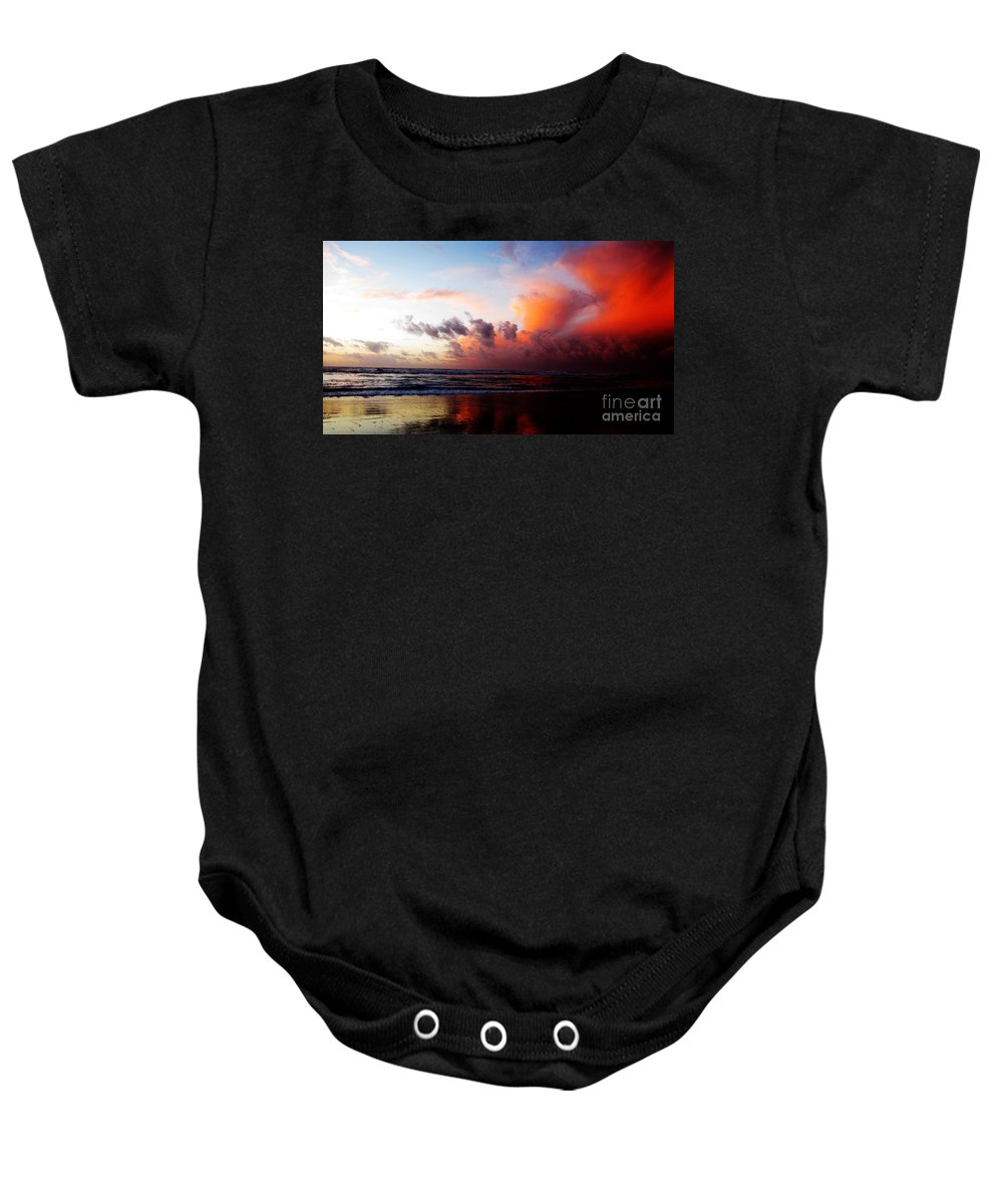 Maritime: Ron Tackett Baby Onesie featuring the photograph Sunset At Westport by Ron Tackett