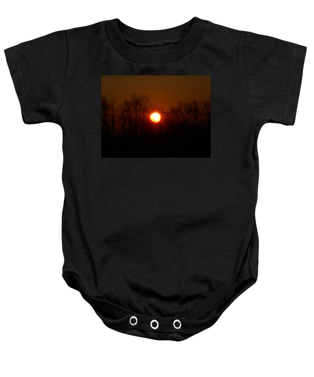 Skyline Baby Onesie featuring the photograph Sunset Blur by Coleen Harty