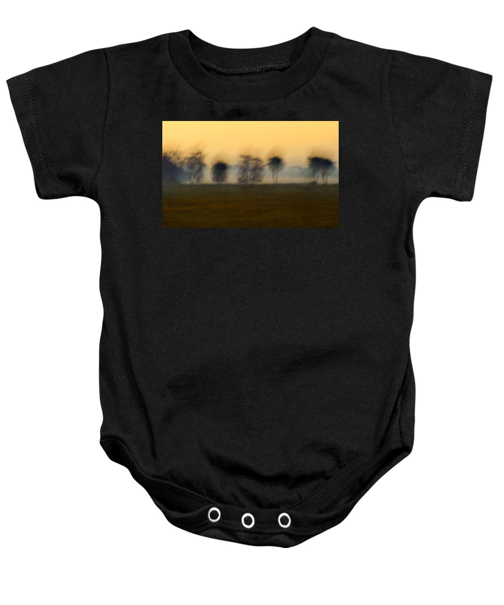 Landscape Baby Onesie featuring the photograph Sunset Dinner Island Ranch by Bruce Bain