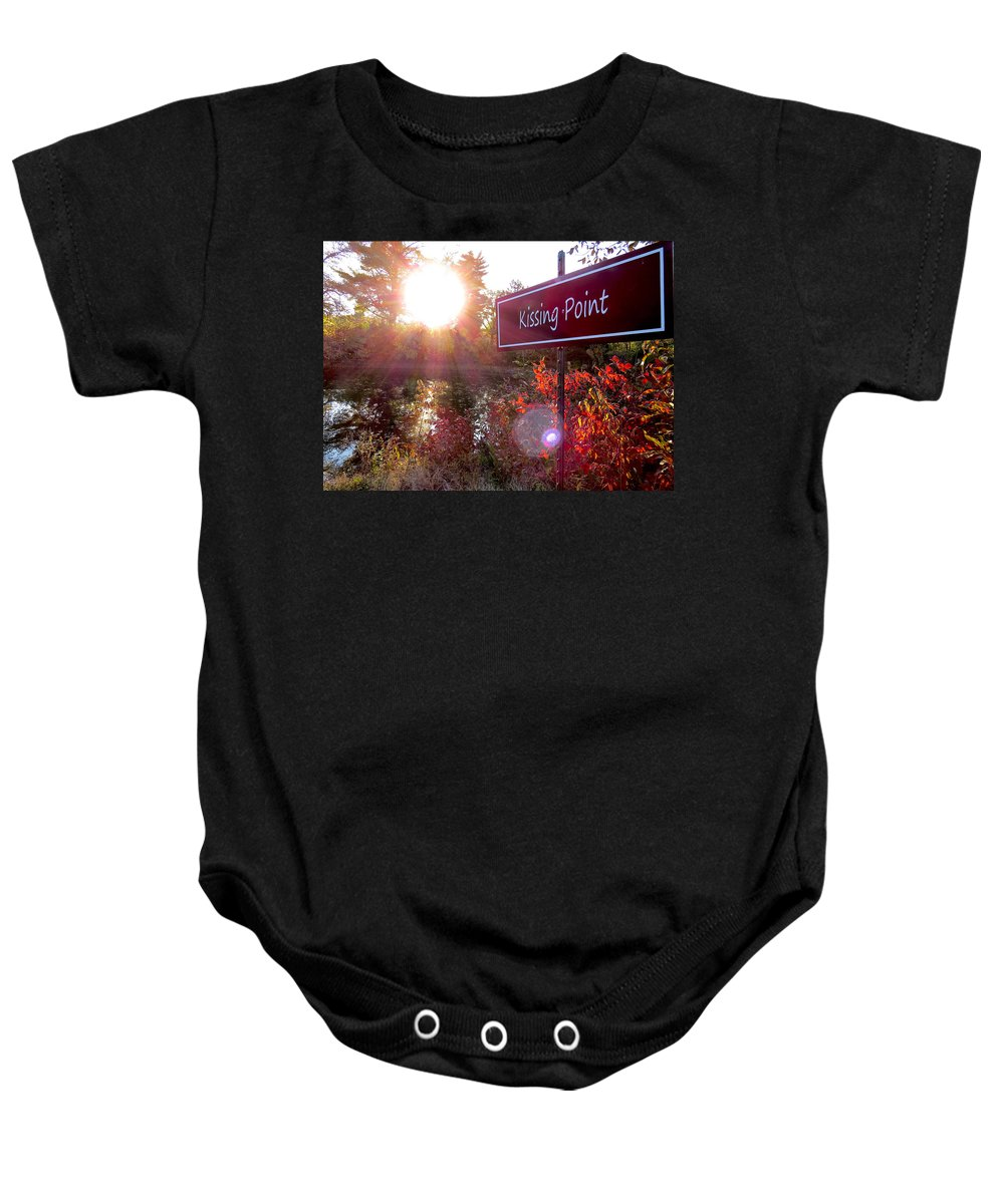 Fall Baby Onesie featuring the photograph Sunset Rendezvous by Craig Bohnert