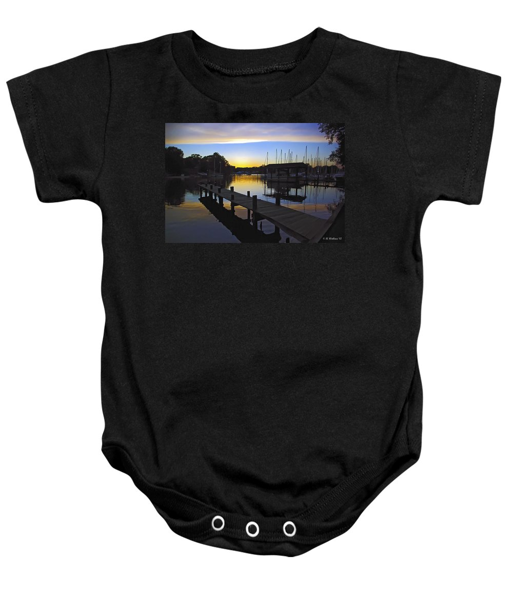 2d Baby Onesie featuring the photograph Sunset Silhouette by Brian Wallace