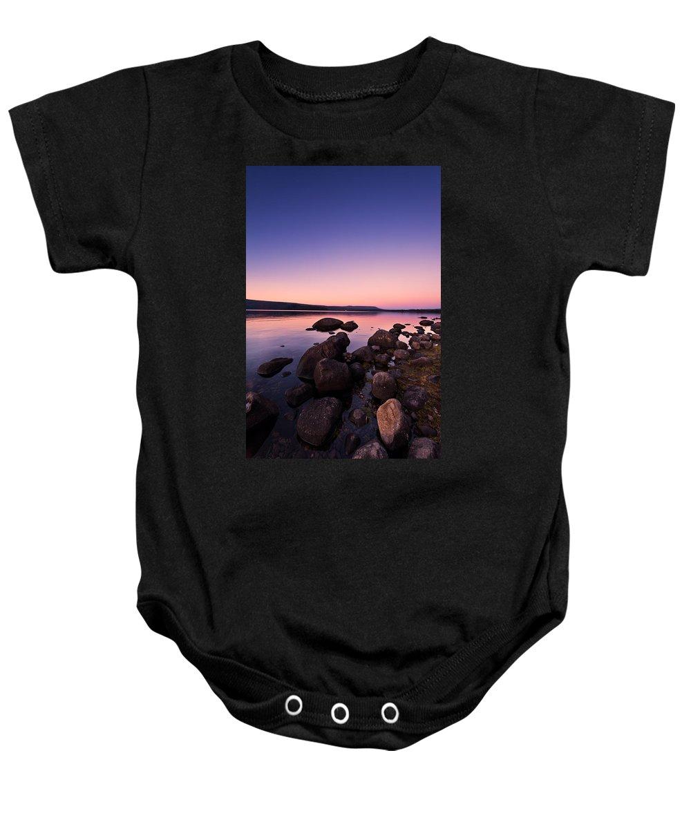 Background Baby Onesie featuring the photograph Sunset Sunrise by U Schade