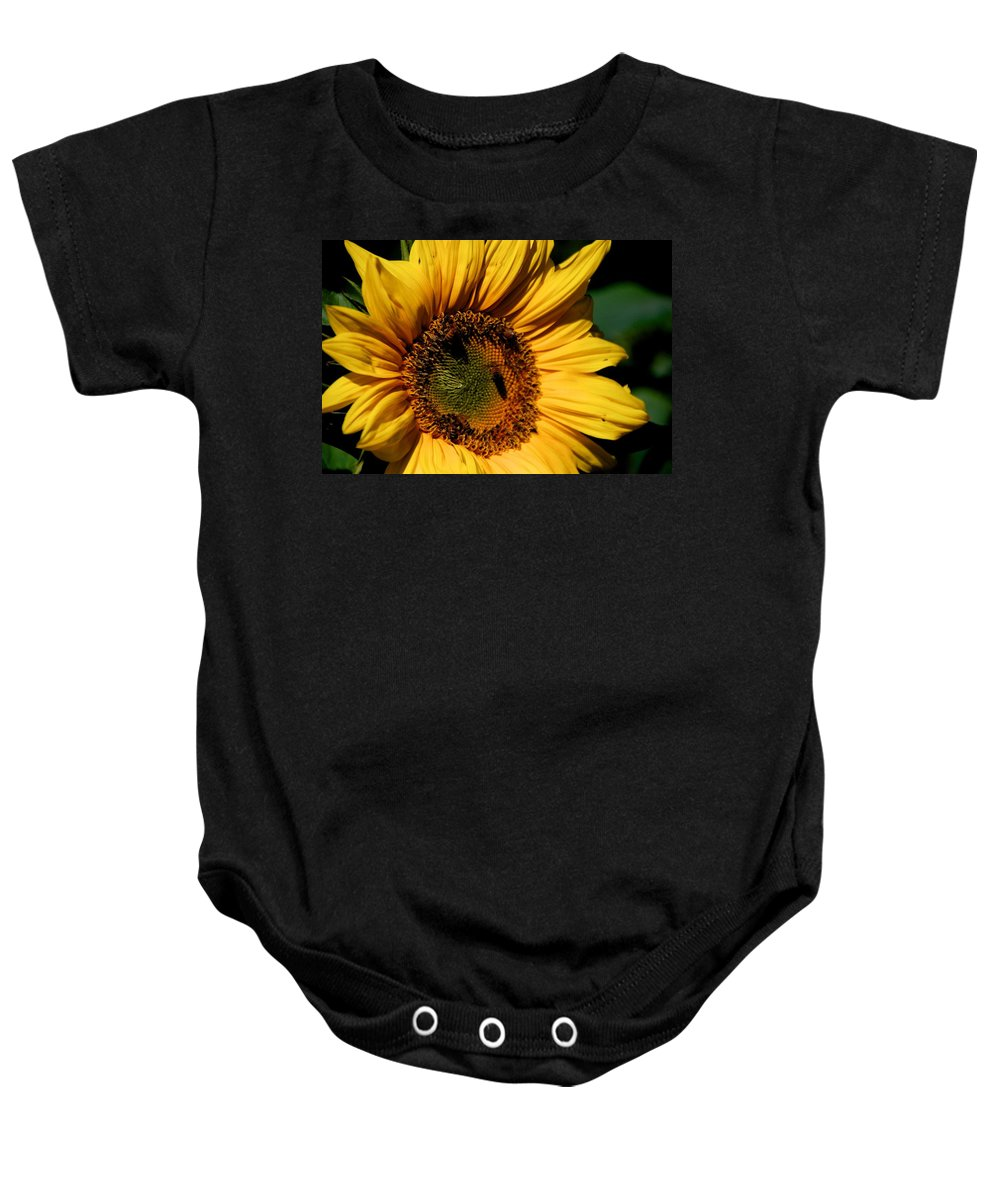 Sunflower Baby Onesie featuring the photograph Sunshine's Blessing by Eric Tressler