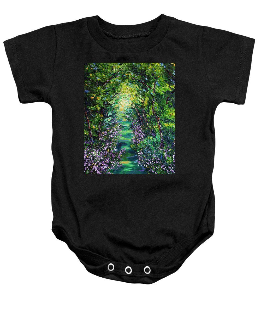 Landscape Baby Onesie featuring the painting Surrender by Meaghan Troup