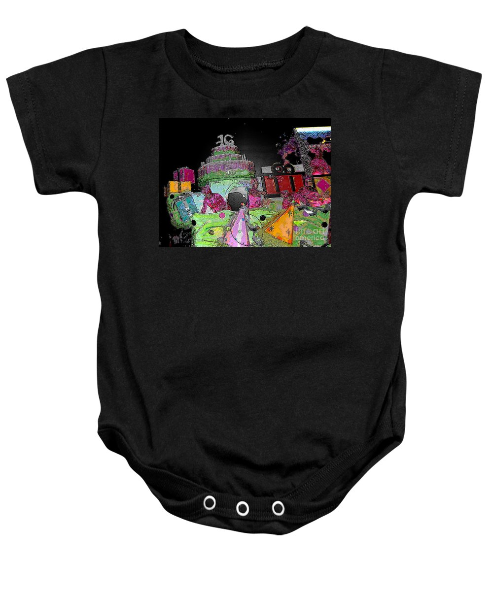 Computer Graphics Baby Onesie featuring the photograph Sweet Sixteen Posterized by Marian Bell