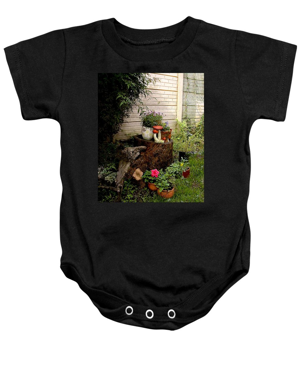 Flora Baby Onesie featuring the painting Sweet Spot by RC DeWinter