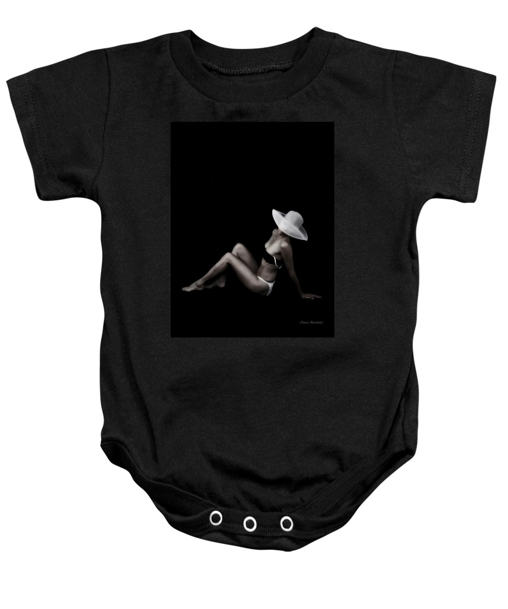 Girl Baby Onesie featuring the photograph Swimsuit Edition by Donna Blackhall