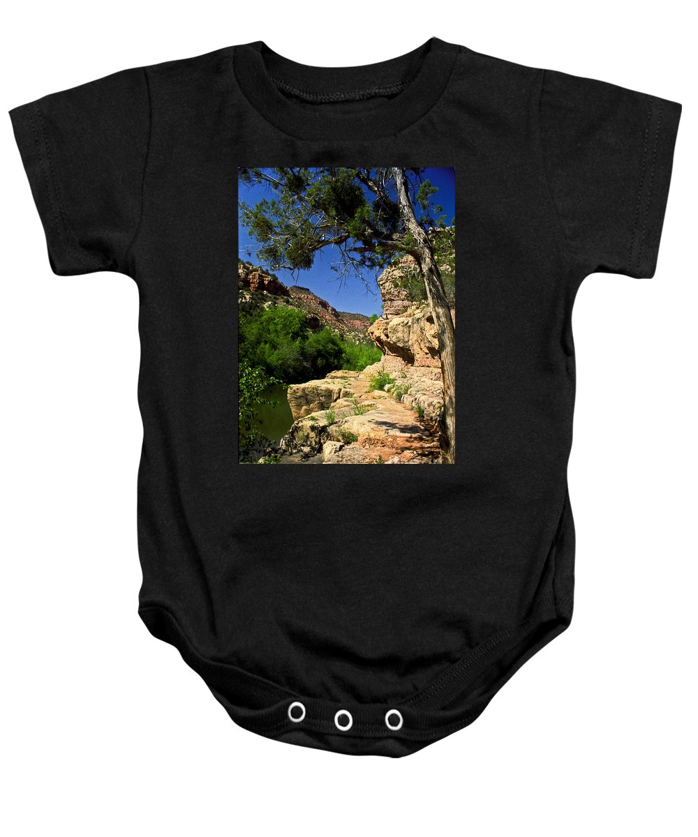 Arizona Baby Onesie featuring the photograph Sycamore Canyon by Kathy McClure