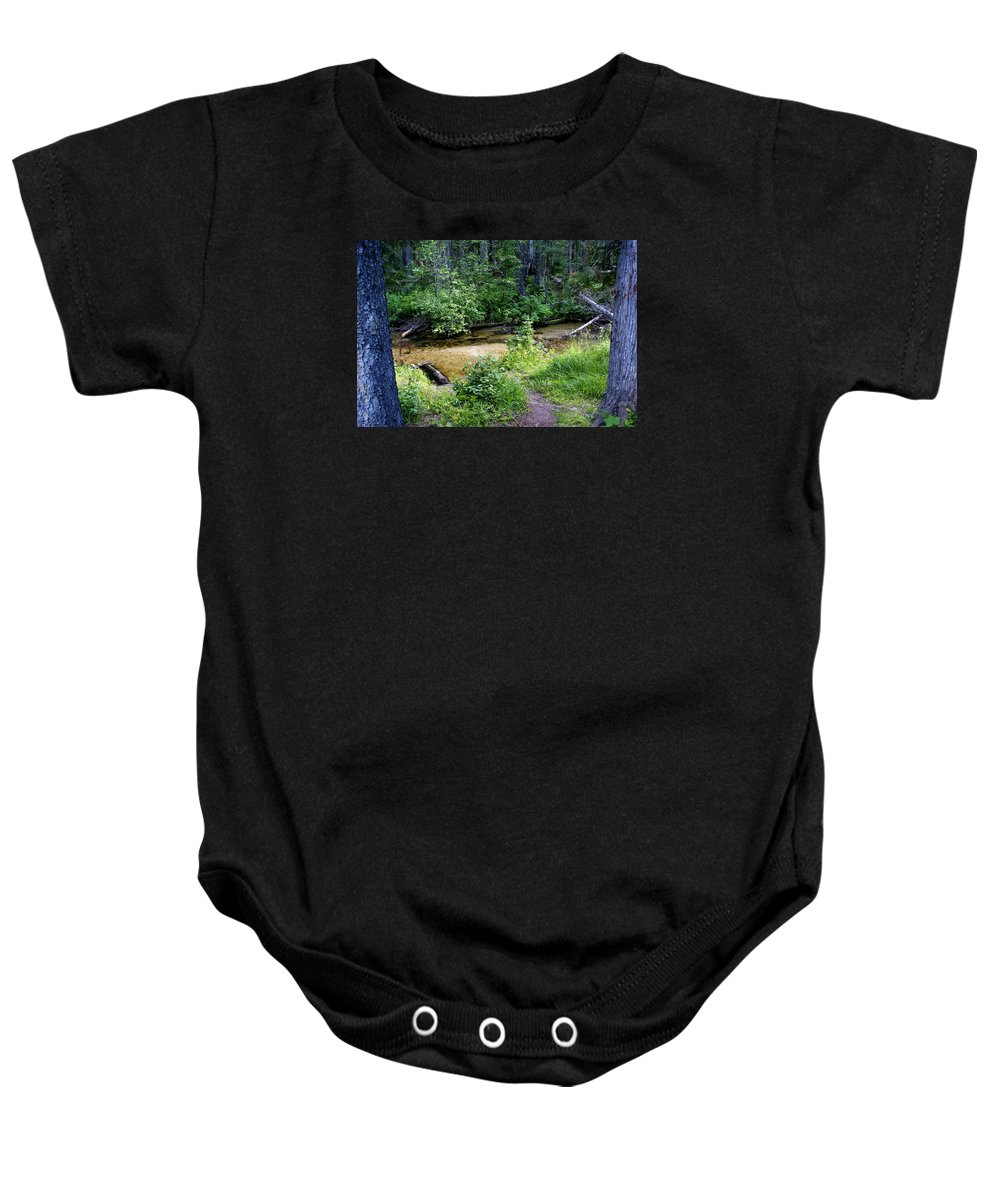 Creek Baby Onesie featuring the photograph Tacoma Creek 1 by Ben Upham III