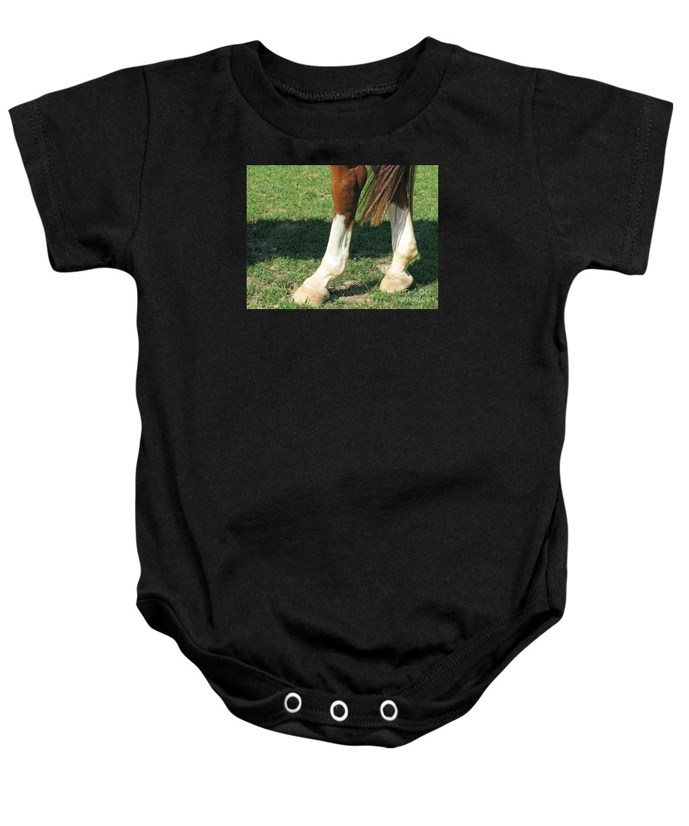 Horse Baby Onesie featuring the photograph Tail End by Ann Horn