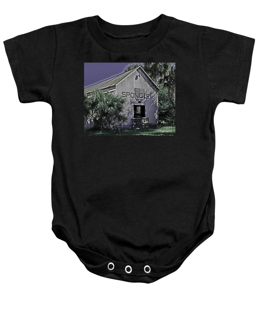 Tarpon Springs Baby Onesie featuring the photograph Tarpon Springs Warehouse II by Stephen Whalen