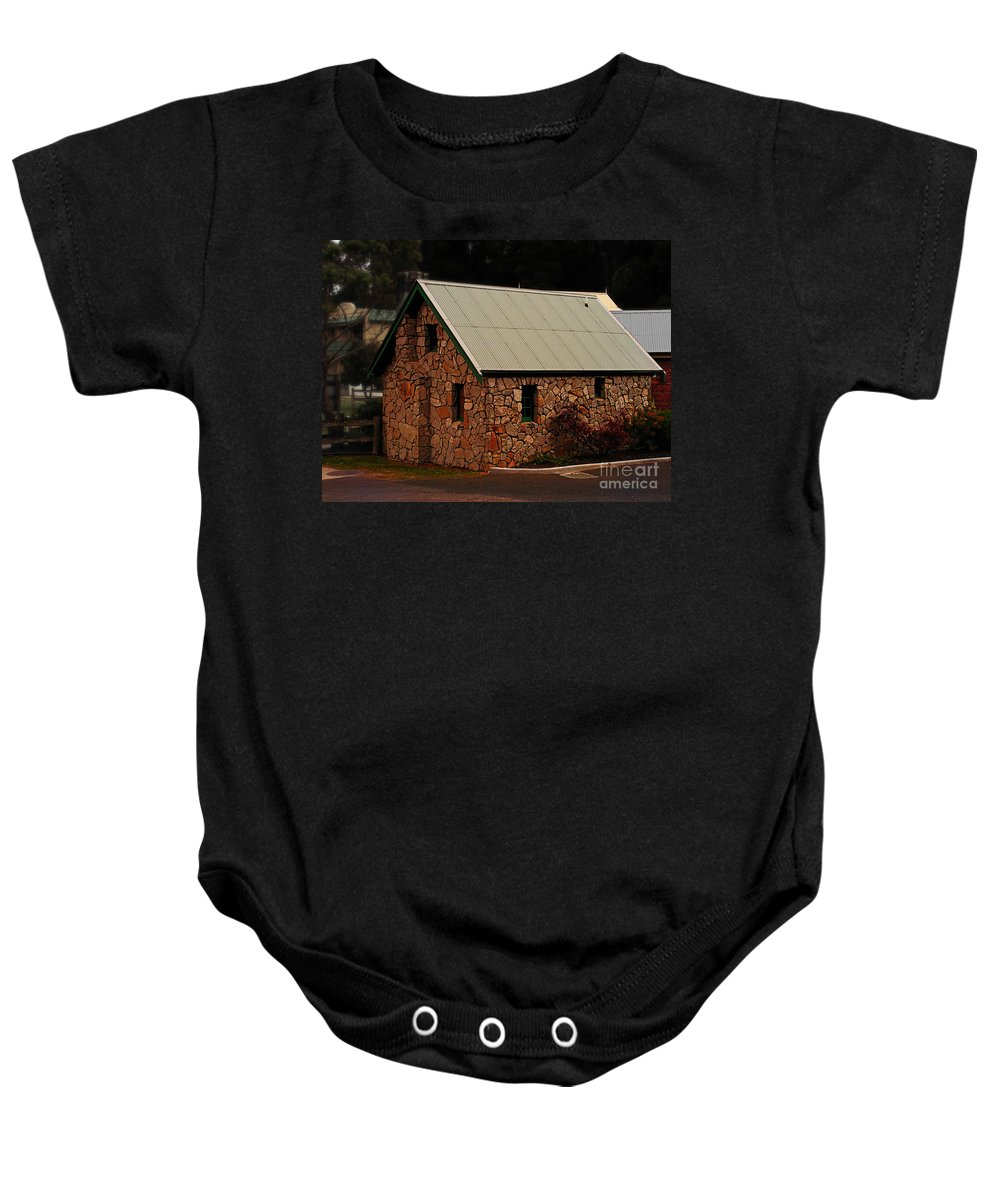 House Baby Onesie featuring the photograph Tasmania 1 by Ben Yassa