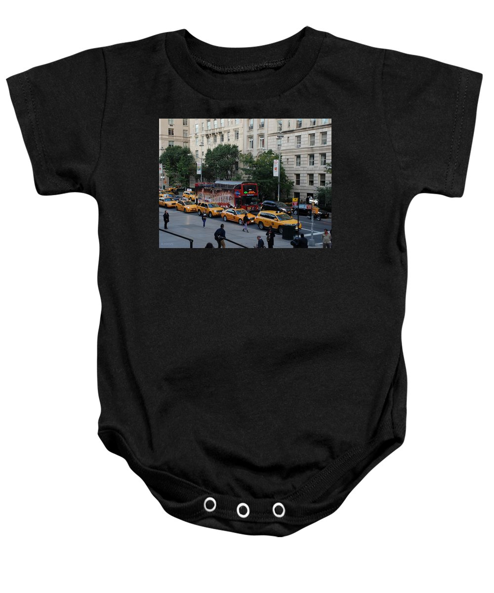 Scenic Baby Onesie featuring the photograph Taxi Stand by Rob Hans