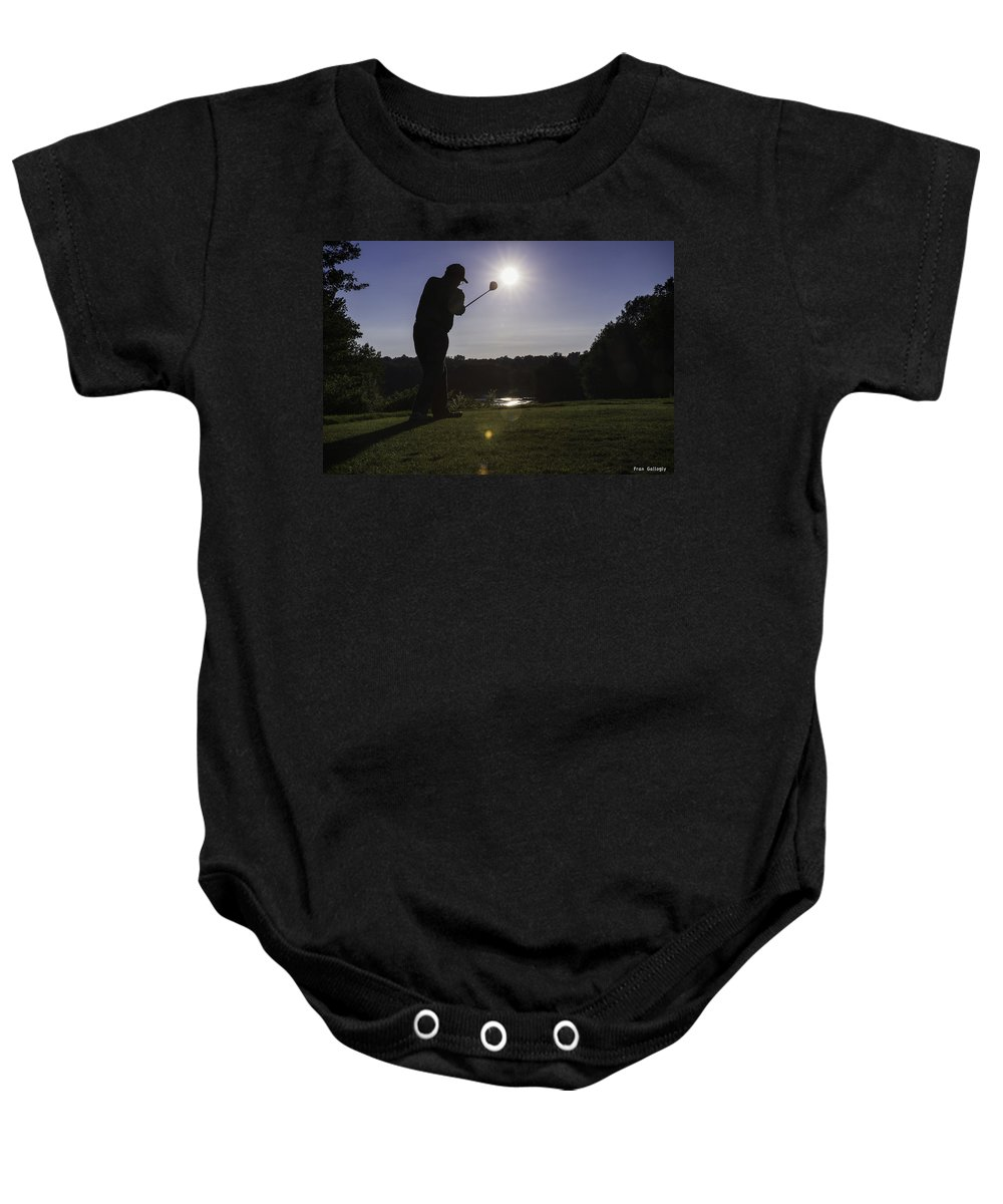 Golf Baby Onesie featuring the photograph Teeing Off by Fran Gallogly