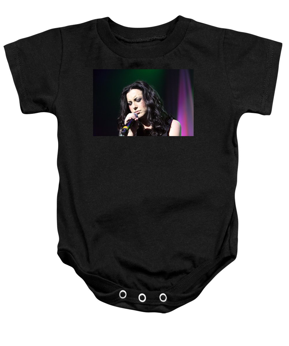 Carly Smithson Baby Onesie featuring the photograph Tender Moments On Stage by Shoal Hollingsworth