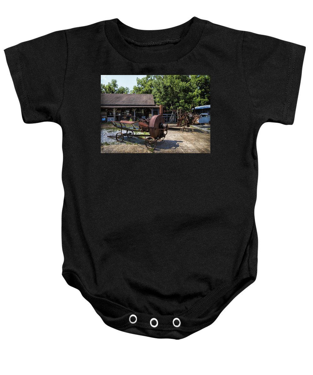 Rust Baby Onesie featuring the photograph Tennessee Rusty Gold by Kathy Clark