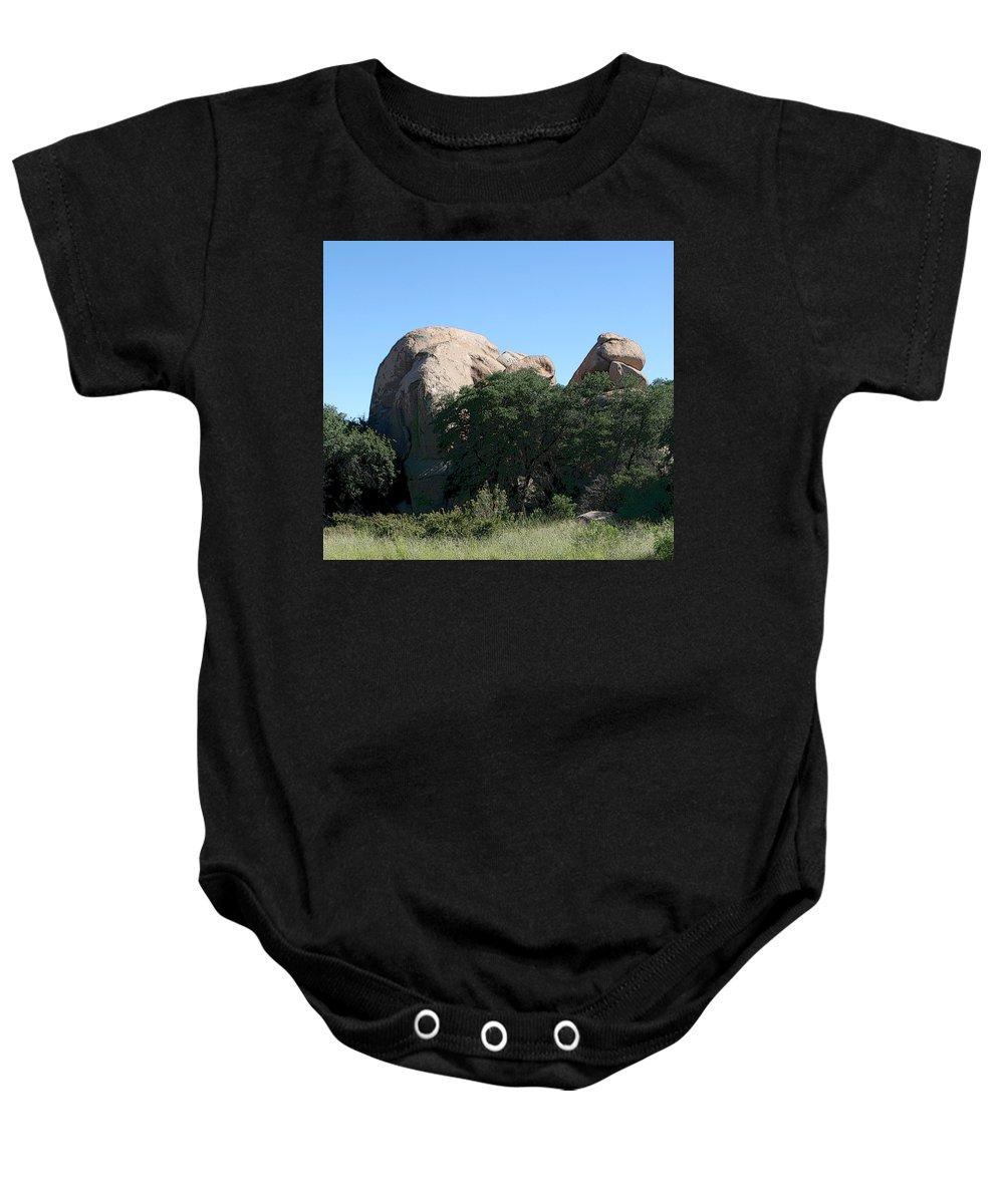Texas Canyon Baby Onesie featuring the photograph Texas Canyon Megaliths by Joe Kozlowski