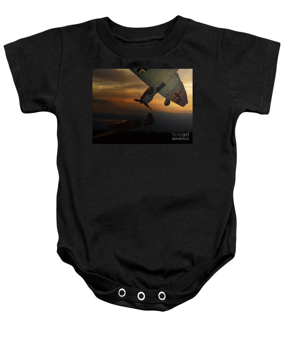 Transportation Baby Onesie featuring the photograph The Air Battle Of Britain by Thomas Woolworth