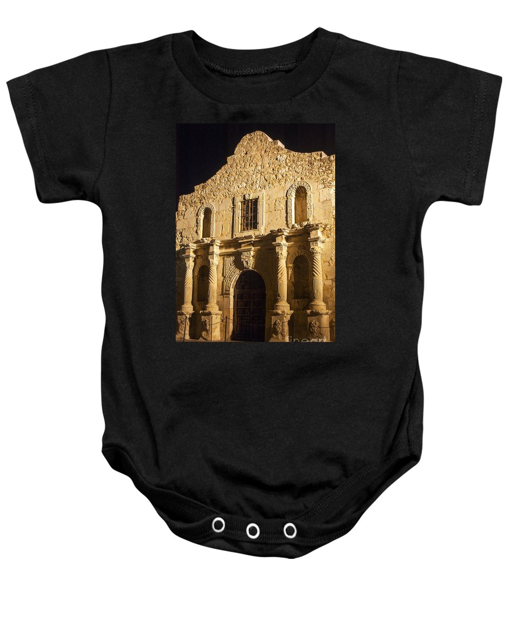 The Alamo Baby Onesie featuring the photograph The Alamo by Bob Phillips
