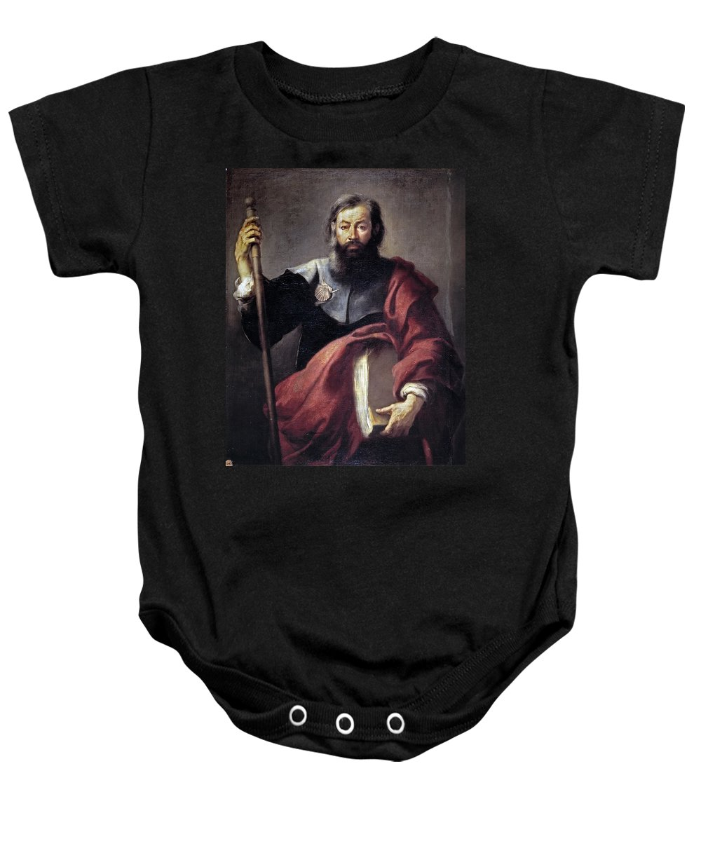 Bartolome Esteban Murillo Baby Onesie featuring the painting The Apostle Saint James by Bartolome Esteban Murillo