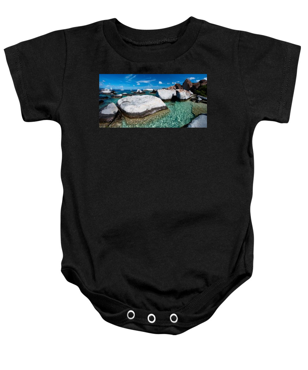 3scape Baby Onesie featuring the photograph The Baths by Adam Romanowicz