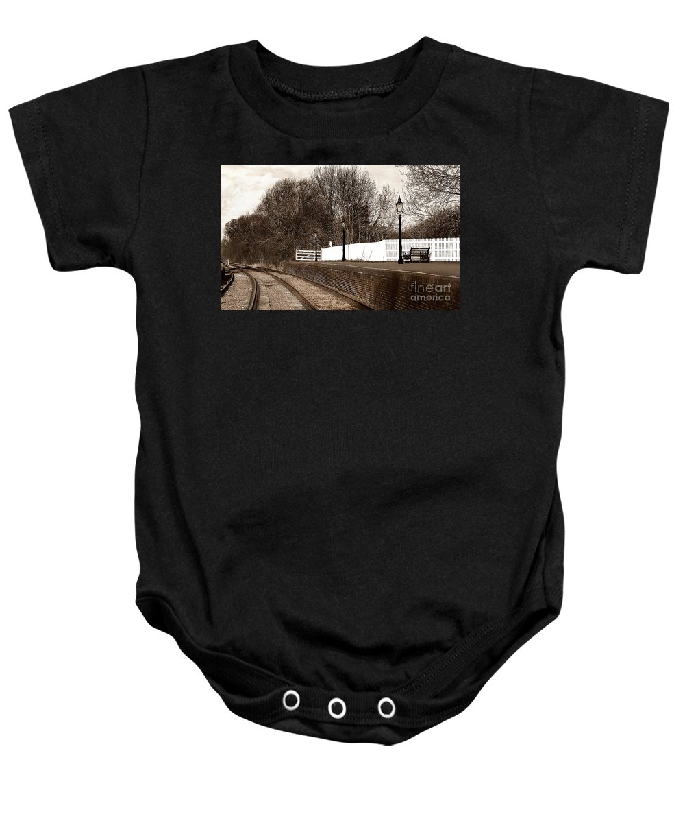 Shenton Baby Onesie featuring the photograph The Battlefield Line by Linsey Williams