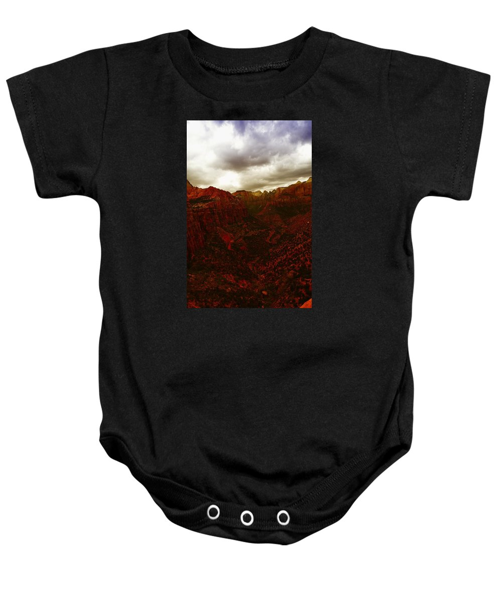 Zion National Park Baby Onesie featuring the photograph The Beauty Of Zion Natinal Park by Jeff Swan