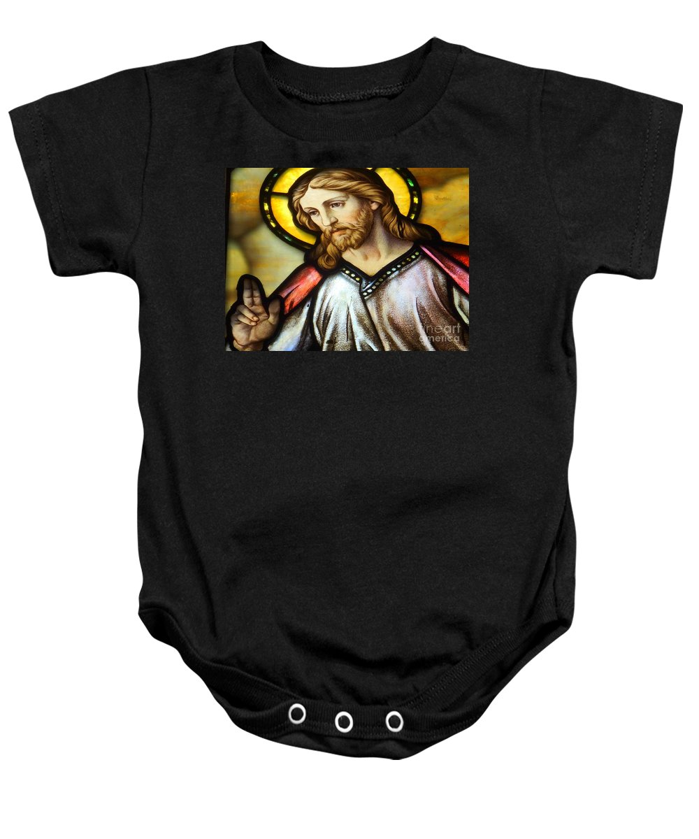 Jesus Baby Onesie featuring the photograph The Blessing by Ed Weidman