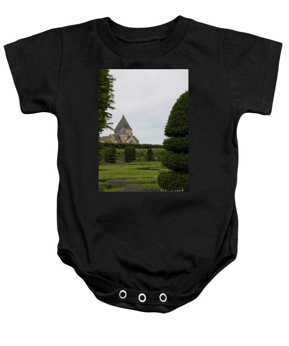 Boxwood Baby Onesie featuring the photograph The Boxwood Garden - Villandry by Christiane Schulze Art And Photography