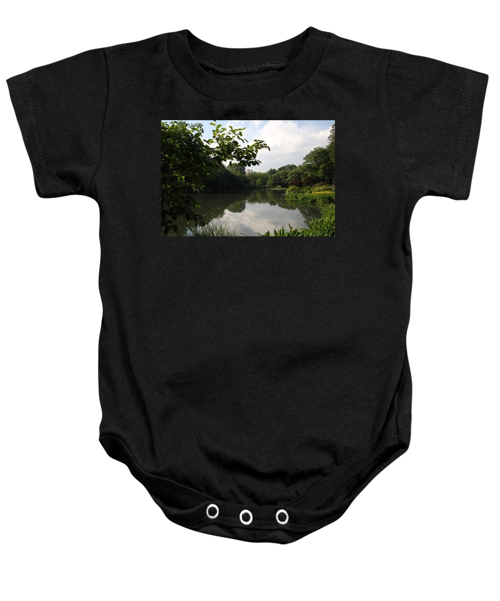 Pond Baby Onesie featuring the photograph The Central Park Pond by Christiane Schulze Art And Photography