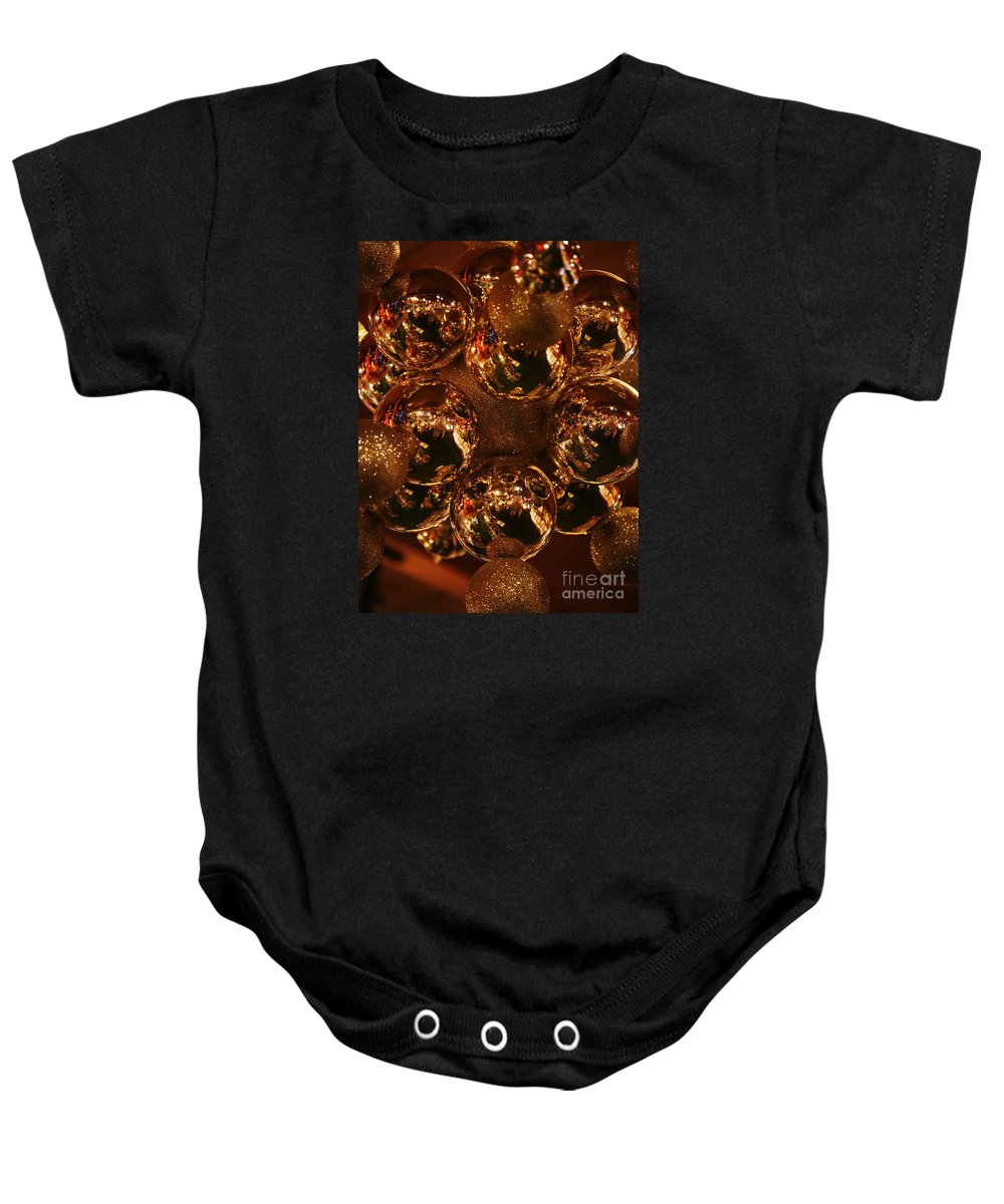 Christmas Baby Onesie featuring the photograph The Christmas Gift by Linda Shafer