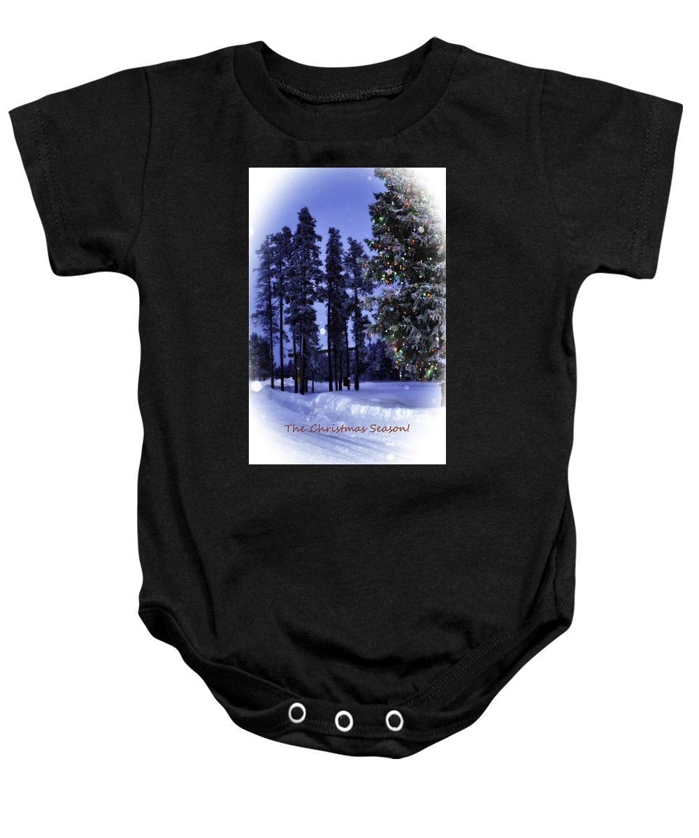 Island Park Baby Onesie featuring the photograph The Christmas Season by Image Takers Photography LLC - Laura Morgan