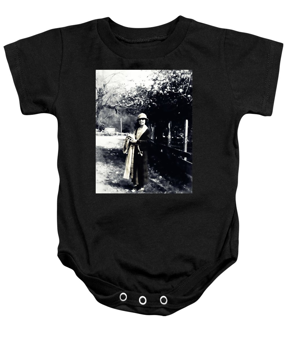 Vintage Baby Onesie featuring the photograph The Country by Image Takers Photography LLC