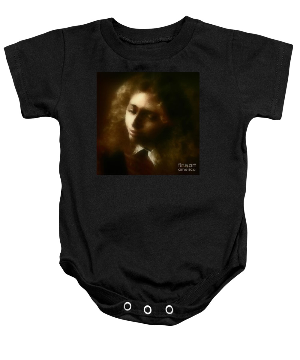 Girl Baby Onesie featuring the painting The Daydream by RC DeWinter
