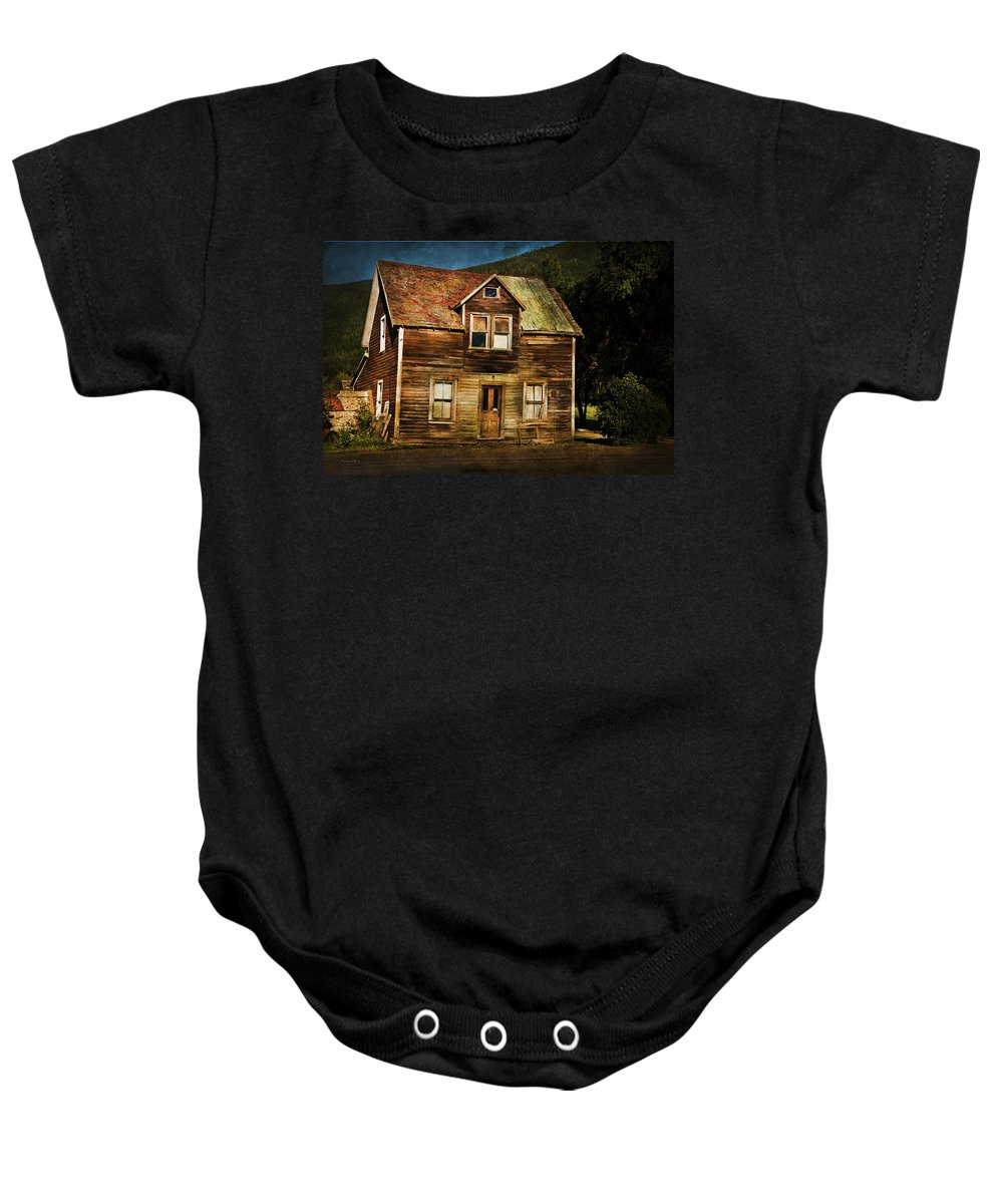 Old House Baby Onesie featuring the photograph The Empty House by Theresa Tahara