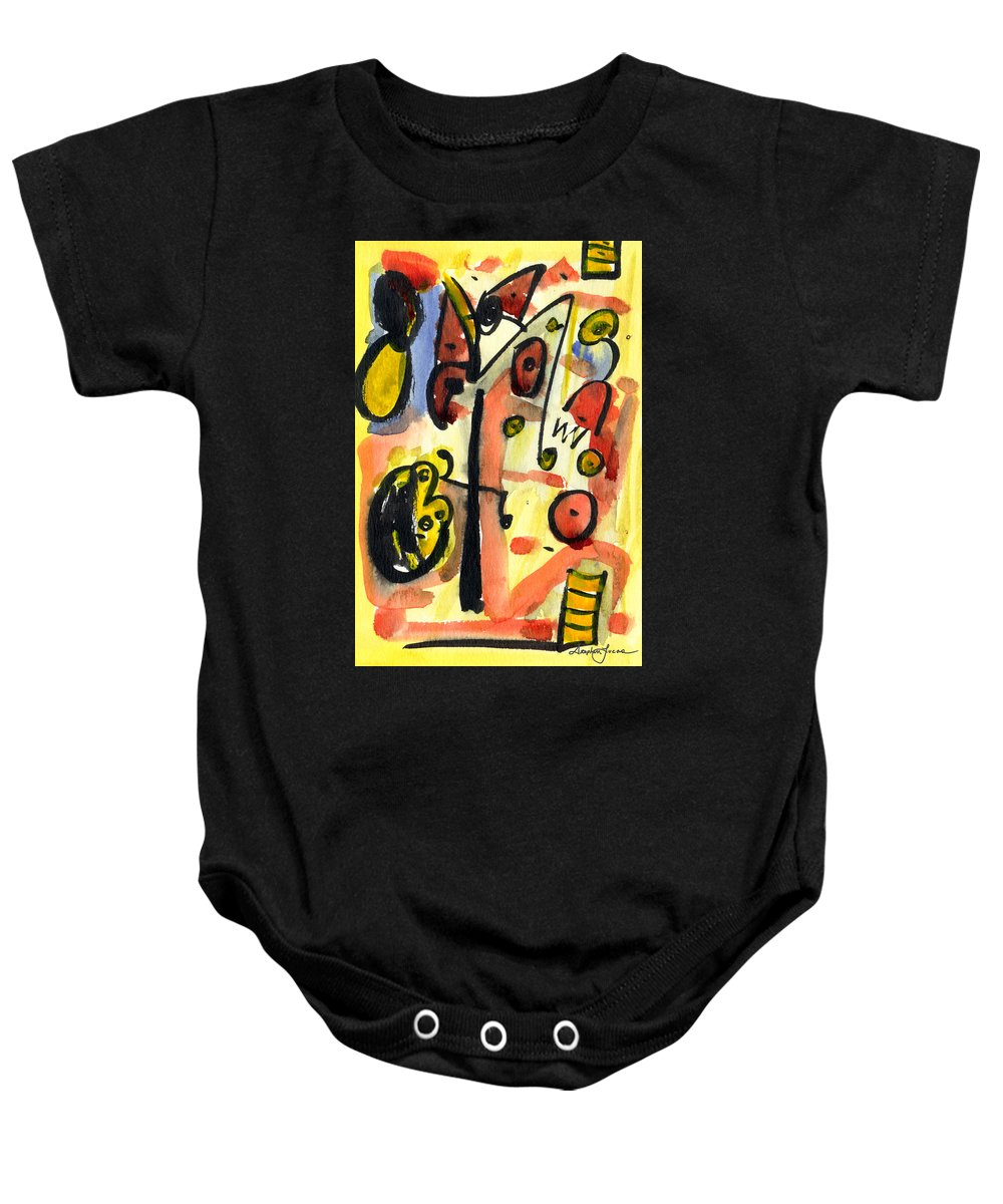 Abstract Art Baby Onesie featuring the painting The Equation by Stephen Lucas