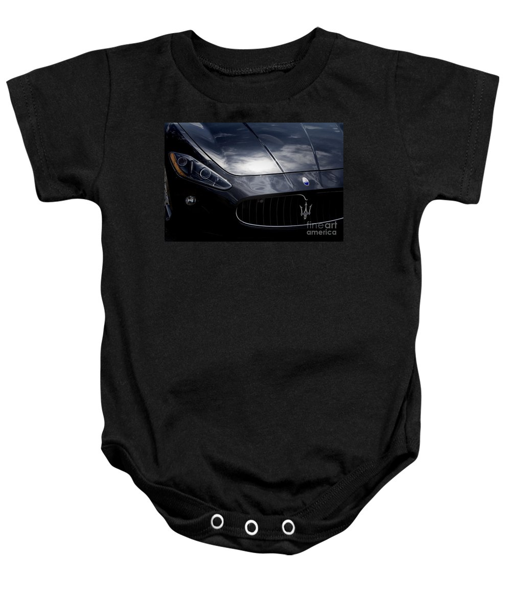 Maserati Baby Onesie featuring the photograph The Essence Of Maserati by Douglas Barnard