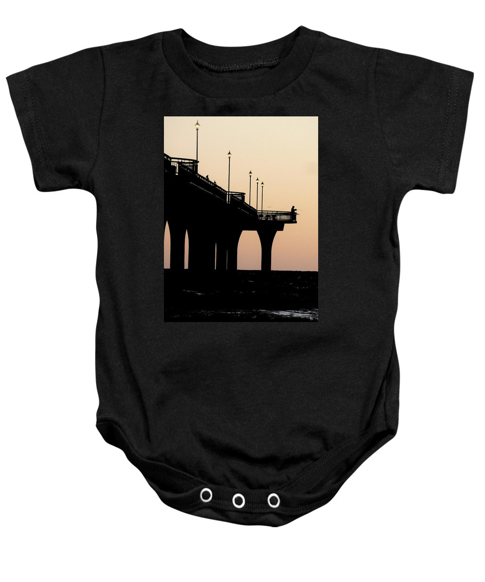 Fishermen Baby Onesie featuring the photograph The Fisherman by Steve Taylor
